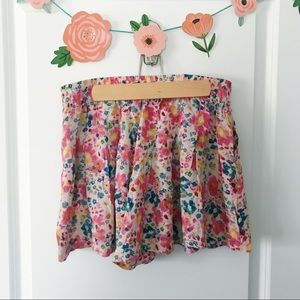 Free People Flowy Floral Boho Pleated Shorts Small